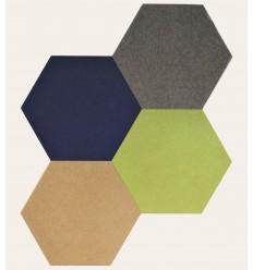 Hexagon akustik vægdekoration skåret i miljøvenligt og lydabsorberende AQsorb