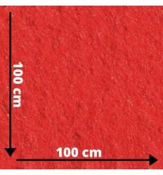 Rød jule filt, 3mm hobbyfilt