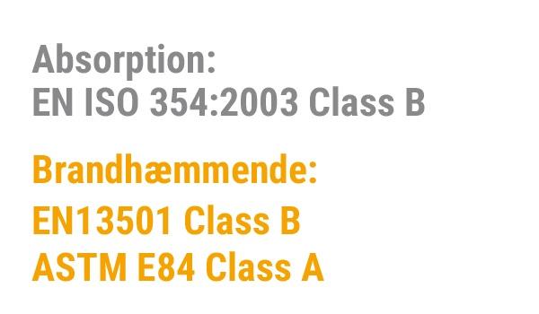 EN ISO 354 EN ISO 13501 ASTM E84 CLASS A