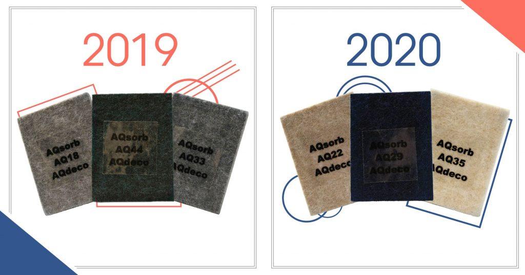 Farvetrend 2019 vs 2020: AQsorb miljøvenlige akustikplader